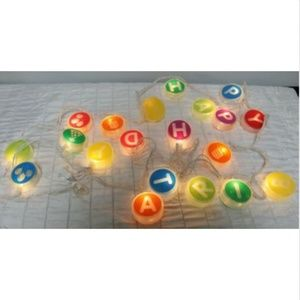 Other - Happy Birthday String Lights Round Circle Letters